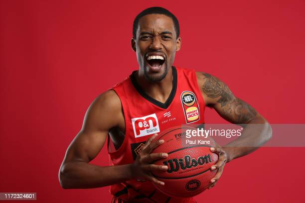 Bryce Cotton poses during a Perth Wildcats NBL portrait session on August 30, 2019 in Perth, Australia.