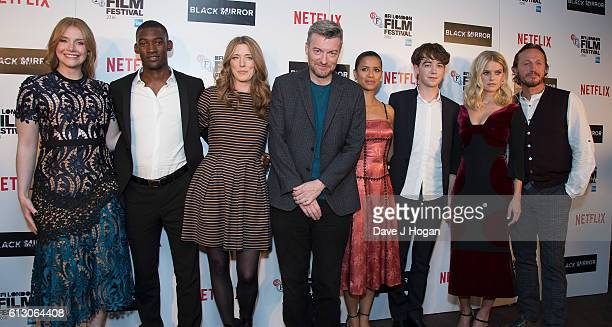Bryce Dallace Howard Malachi Kirby Annabel Jones Charlie Brooker Gugu MbathaRaw Alex Lawther Alice Eve and Gerome Flynn attend the LFF Premiere of...