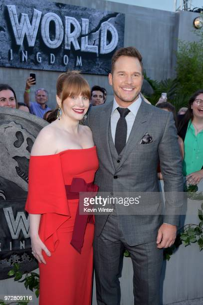 Bryce Dallas Howard and Chris Pratt attend the premiere of Universal Pictures and Amblin Entertainment's Jurassic World Fallen Kingdom at Walt Disney...