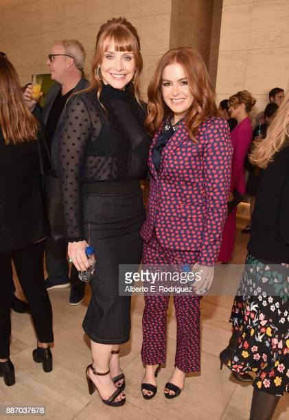 Bryce Dallas Howard and Isla Fisher attend The Hollywood Reporter's 2017 Women In Entertainment Breakfast at Milk Studios on December 6 2017 in Los...