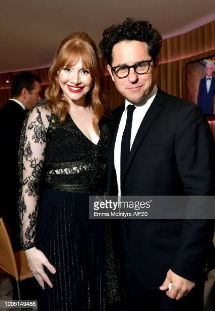 Bryce Dallas Howard and JJ Abrams attend the 2020 Vanity Fair Oscar Party hosted by Radhika Jones at Wallis Annenberg Center for the Performing Arts...