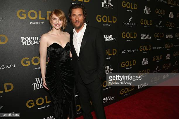 Bryce Dallas Howard and Matthew McConaughey attend TWCDimension with Popular Mechanics The Palm Court Wild Turkey Bourbon Host the Premiere of 'Gold'...