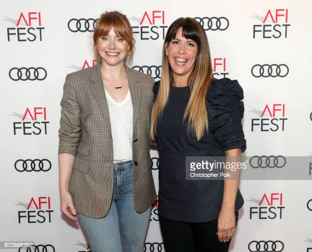 Bryce Dallas Howard and Patty Jenkins attend the 'On Directing Patty Jenkins' at AFI FEST 2017 Presented By Audi TCL Chinese 6 Theatres on November...