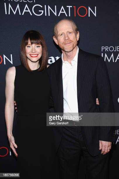 Bryce Dallas Howard and Ron Howard attend Canon's 'Project Imaginat10n' Film Festival opening night at Alice Tully Hall at Lincoln Center on October...