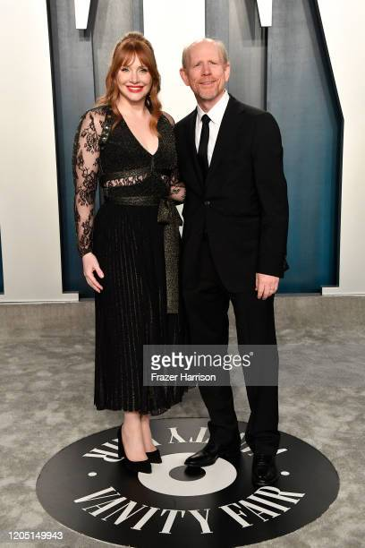 Bryce Dallas Howard and Ron Howard attend the 2020 Vanity Fair Oscar Party hosted by Radhika Jones at Wallis Annenberg Center for the Performing Arts...