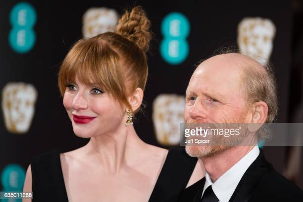 Bryce Dallas Howard and Ron Howard attend the 70th EE British Academy Film Awards at Royal Albert Hall on February 12, 2017 in London, England.