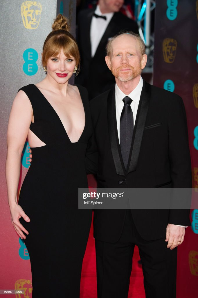 Bryce Dallas Howard and Ron Howard attend the 70th EE British Academy Film Awards (BAFTA) at Royal Albert Hall on February 12, 2017 in London, England.