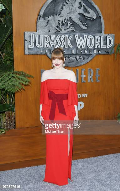 Bryce Dallas Howard arrives to the Los Angeles premiere of Universal Pictures and Amblin Entertainment's Jurassic World Fallen Kingdom held at Walt...