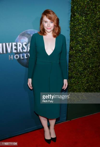 Bryce Dallas Howard attends the grand opening celebration of 'Jurassic World The Ride' at Universal Studios Hollywood on July 22 2019 in Universal...