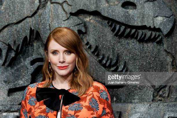 Bryce Dallas Howard attends the 'Jurassic World Fallen Kindom' premiere at Wizink Center on May 21 2018 in Madrid Spain
