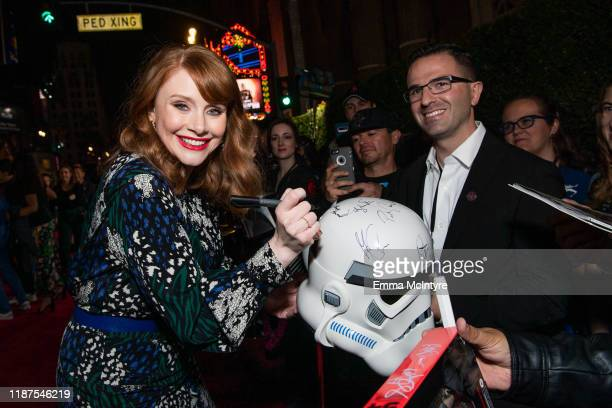 Bryce Dallas Howard attends the premiere of Disney's 'The Mandalorian' at El Capitan Theatre on November 13 2019 in Los Angeles California