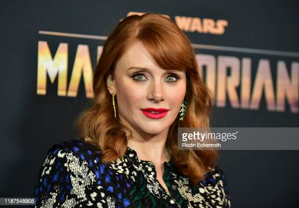 Bryce Dallas Howard attends the premiere of Disney's The Mandalorian at El Capitan Theatre on November 13 2019 in Los Angeles California