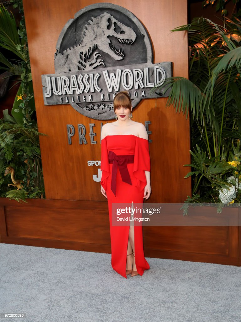 Bryce Dallas Howard attends the premiere of Universal Pictures and Amblin Entertainment's 'Jurassic World: Fallen Kingdom' at Walt Disney Concert Hall on June 12, 2018 in Los Angeles, California.