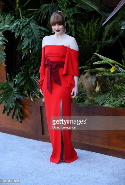 Bryce Dallas Howard attends the premiere of Universal Pictures and Amblin Entertainment's Jurassic World Fallen Kingdom at Walt Disney Concert Hall...