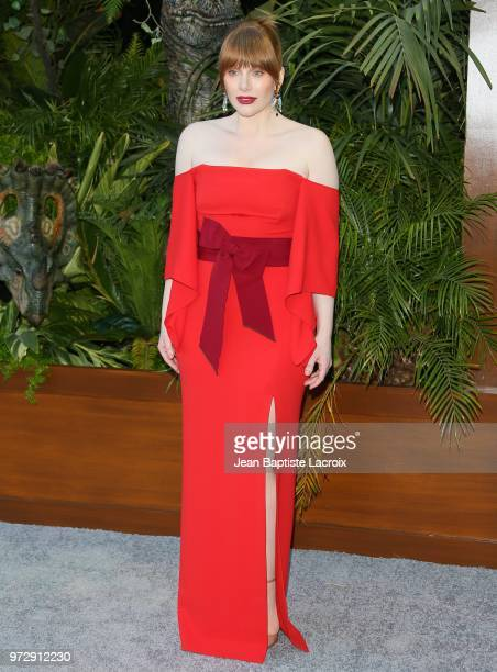 Bryce Dallas Howard attends the premiere of Universal Pictures and Amblin Entertainment's 'Jurassic World Fallen Kingdom' on June 12 2018 in Los...