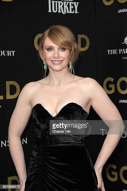 Bryce Dallas Howard attends the world premiere of 'Gold' hosted by TWCDimension at AMC Loews Lincoln Square 13 theater on January 17 2017 in New York...