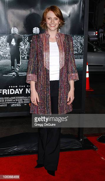 """Bryce Dallas Howard during """"Friday Night Lights"""" Los Angeles Premiere - Arrivals at Grauman's Chinese Theatre in Hollywood, California, United States."""