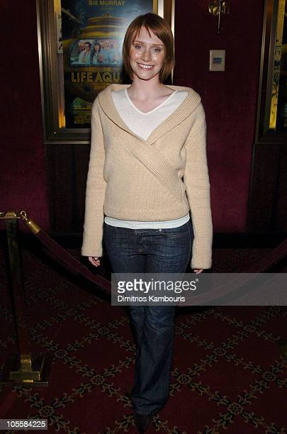 """Bryce Dallas Howard during """"The Life Aquatic with Steve Zissou"""" New York Premiere - Inside Arrivals at Ziegfeld Theater in New York City, New York,..."""