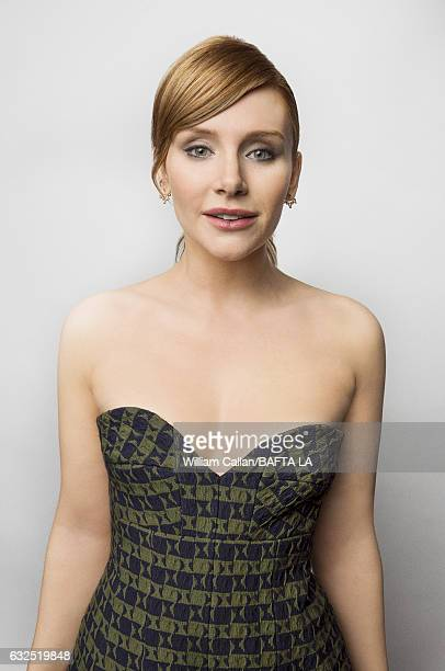 Bryce Dallas Howard poses for a portraits at the BAFTA Tea Party at Four Seasons Hotel Los Angeles at Beverly Hills on January 7 2017 in Los Angeles...