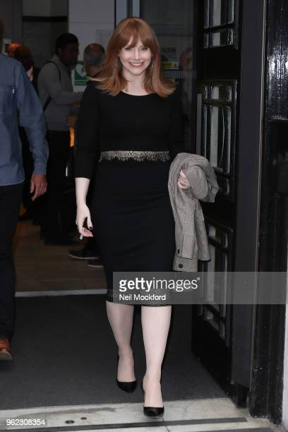 Bryce Dallas Howard seen at BBC Radio 2 on May 25 2018 in London England