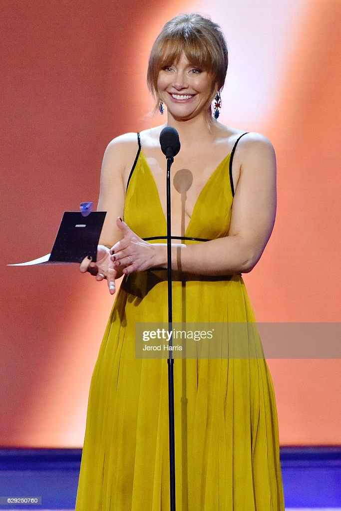 Bryce Dallas Howard speaks onstage during the 22nd Annual Critics' Choice Awards at Barker Hangar on December 11, 2016 in Santa Monica, California.