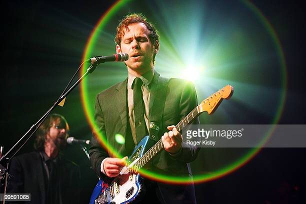 Bryce Dessner of The National performs onstage at the Brooklyn Academy of Music presented by ZYNC from American Express on May 15 2010 in New York...