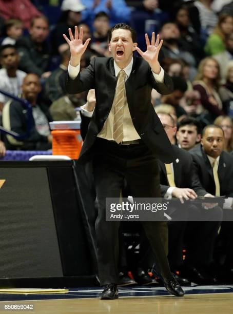 Bryce Drew the head coach of the Vanderbilt Commodoresgives instructions to his team against the Texas AM Aggies during the second round of the SEC...