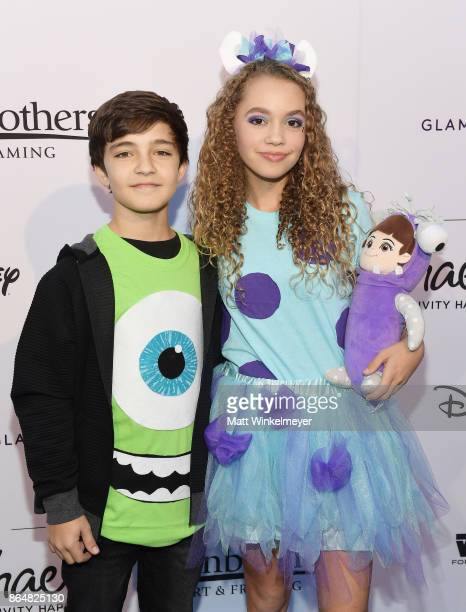 Bryce Gheisar and Jillian Shea Spaeder at the Dream Halloween 2017 Costume Party Benefitting Starlight Children's Foundation presented by Michaels...