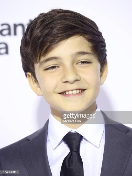Bryce Gheisar arrives to the Los Angeles premiere of Lionsgate's Wonder held at Regency Village Theatre on November 14 2017 in Westwood California