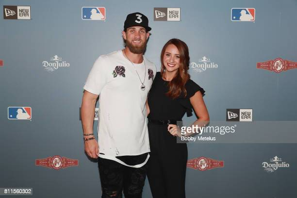 Bryce Harper and Kayla Varner attend the New Era Cap MLB AllStar Party 2017 at Beachcraft at 1 Hotel South Beach on July 9 2017 in Miami Beach Florida