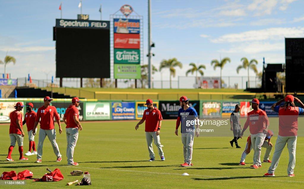 Philadelphia Phillies' Bryce Harper Workout : News Photo