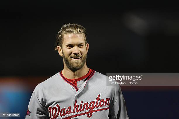 Bryce Harper Washington Nationals during the New York Mets Vs Washington Nationals MLB regular season baseball game at Citi Field Queens New York USA...