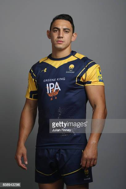 Bryce Heem of Worcester poses for a portrait during the Worcester Warriors Photocall for the 20172018 Aviva Premiership Rugby season at Sixways...