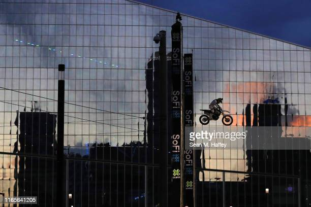Bryce Hudson competes in the Moto X Step Up at the X Games Minneapolis 2019 at U.S. Bank Stadium on August 01, 2019 in Minneapolis, Minnesota.
