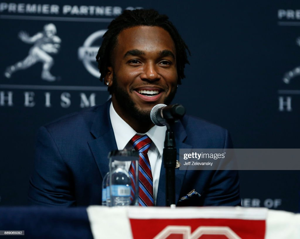 Bryce Love of Stanford speaks at the press conference for the 2017 Heisman Trophy Presentation on December 9, 2017 in New York City.