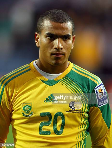Bryce Moon of South Africa looks on during the International Friendly match between South Africa and Australia at Loftus Road on August 19, 2008 in...