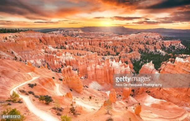 bryce national park - unesco werelderfgoed stockfoto's en -beelden