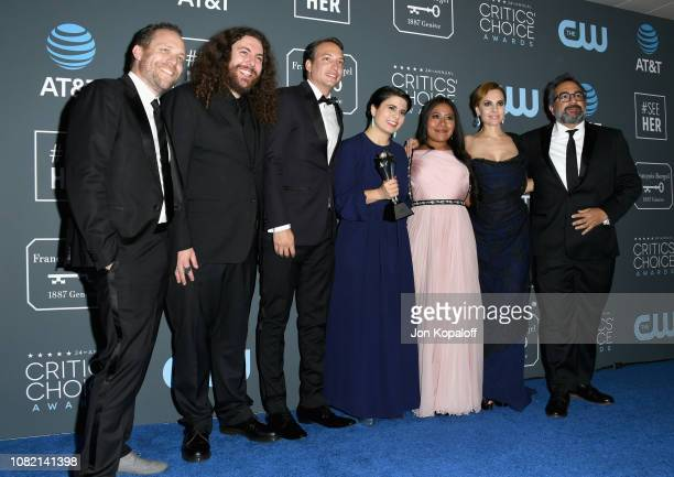 Bryce Nielsen, Adam Gough, Nicolas Celis, Gabriela Rodriguez, Yalitza Aparicio, Marina De Tavira, and Eugenio Caballero, winners of Best Picture for...