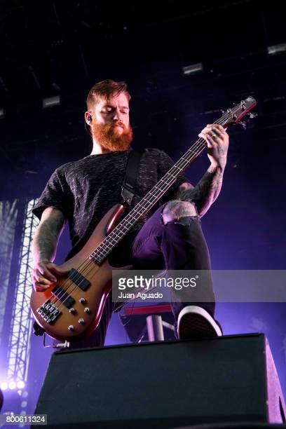 Bryce Paul of In Flames performs on stage at the Download Festival on June 24 2017 in Madrid Spain
