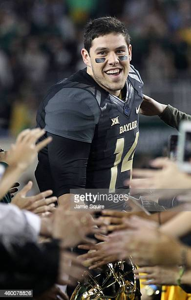 Bryce Petty of the Baylor Bears enters the field before the start of the game against the Kansas State Wildcats on December 6 2014 at McLane Stadium...