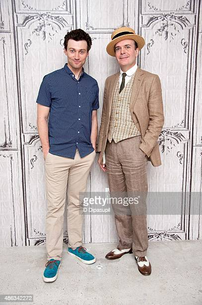Bryce Pinkham and Jefferson Mays attend AOL BUILD Speaker Series A Gentleman's Guide to Love and Murder at AOL Studios In New York on September 3...