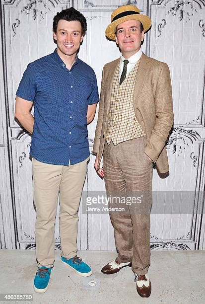 Bryce Pinkham and Jefferson Mays stars of A Gentleman's Guide To Love And Murder attend AOL BUILD Speaker Series at AOL Studios In New York on...