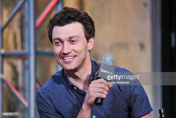 Bryce Pinkham star of A Gentleman's Guide To Love And Murder attends AOL BUILD Speaker Series at AOL Studios In New York on September 3 2015 in New...