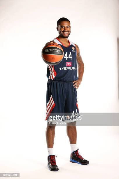Bryce Taylor #44 of FC Bayern Munich poses during the FC Bayern Munich 2013/14 Turkish Airlines Euroleague Basketball Media Day at AudiDome on...
