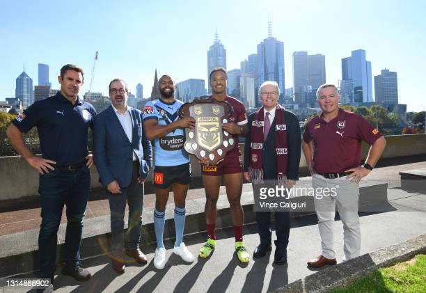 Brydens Lawyers NSW Blues Coach Brad Fittler, Minister for Tourism, Sport and Major Events Martin Pakula, Brydens Lawyers NSW Blues Representative...