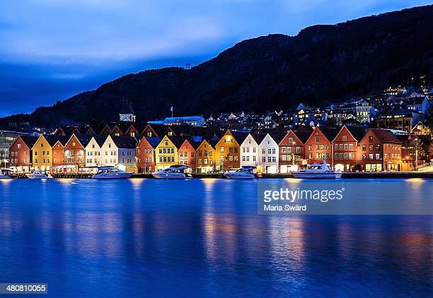 Bryggen at blue hour