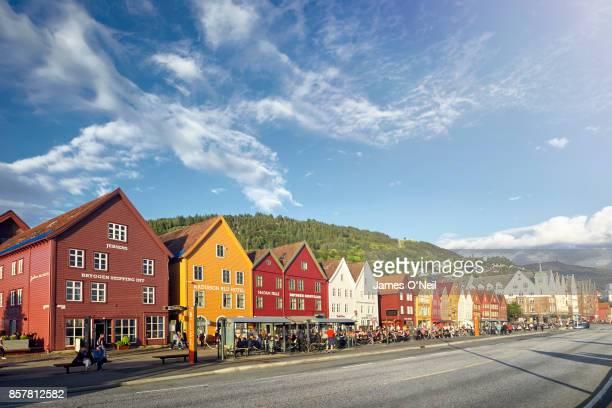 Bryggen store fronts, Bergen, Norway