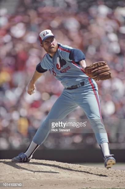 Bryn Smith pitcher for the Montreal Expos on the mound during the Major League Baseball National League West game against the Los Angeles Dodgers on...