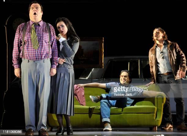 Bryn Terfel as Don Pasquale and Olga Peretyatko as Norina Ioan Hotea as Ernesto, Marcus Werba as Doctor Malatesta in Gaetano Donizetti's Don Pasquale...