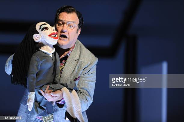 Bryn Terfel as Don Pasquale in Gaetano Donizetti's Don Pasquale directed by Damiano Michieletto and conducted by Evelino Pido at The Royal Opera...